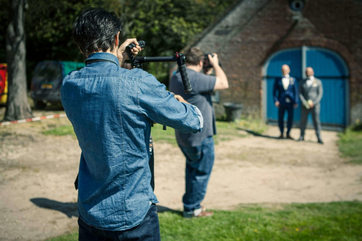 "Videograaf aan het werk. Kasteel Ophemert, ""Secret Garden"" Styled shoot."