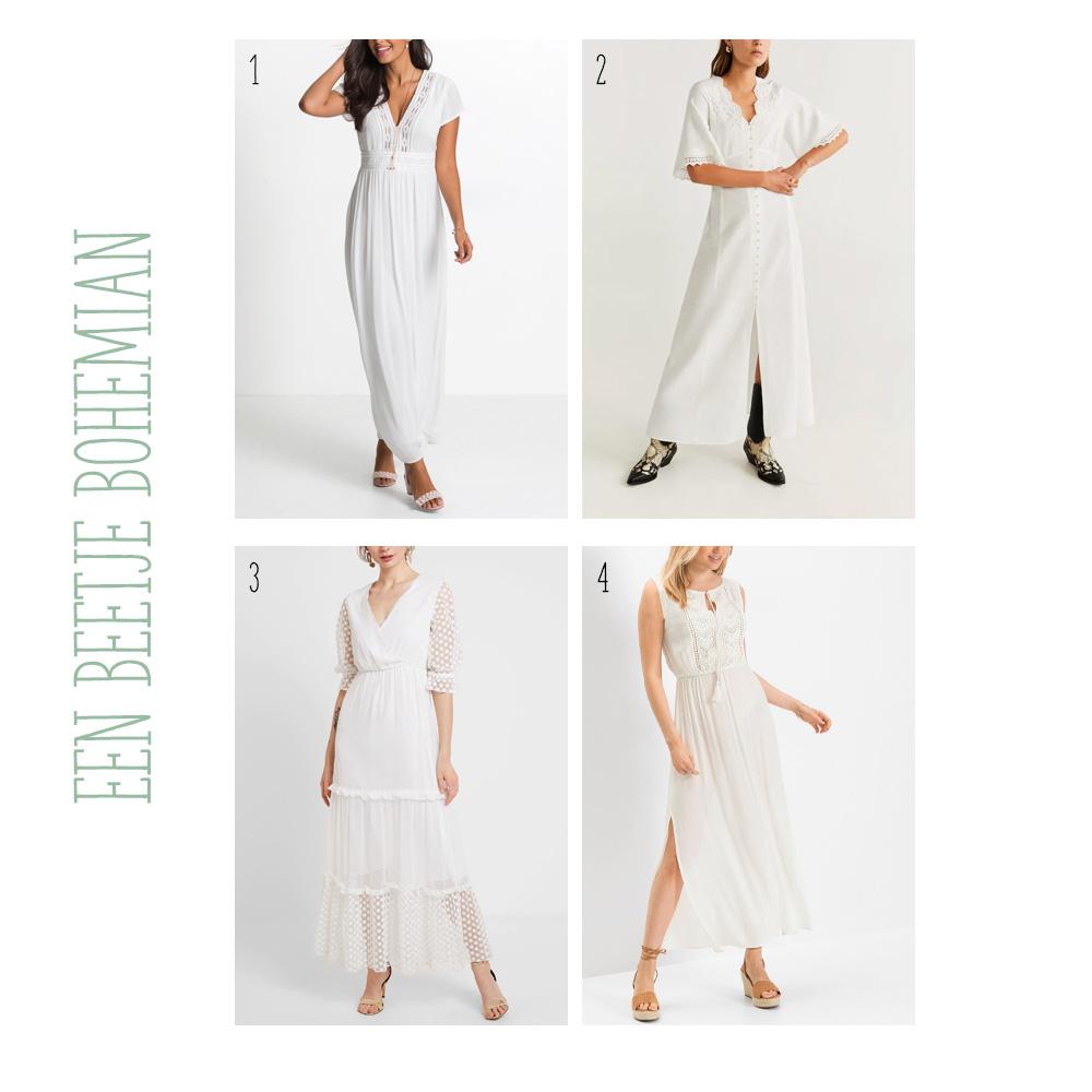 Trouwjurken onder de €50. Ga je trouwen met een klein budget? Kijk dan bij deze trouwjurken voor inspiratie. Bohemian stijl.