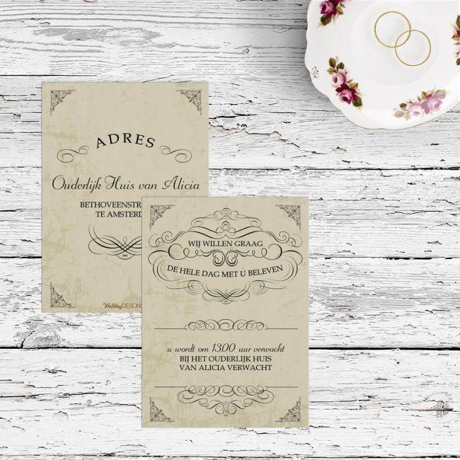 Inlegvel Elegance is een elegant ontwerp, met traditionele en klassieke insteek. Prachtige, sierlijke krullen en mooie fonts.