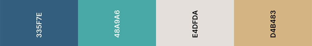 Trouwkaart trendkleuren gebaseerd op chinese porcelain