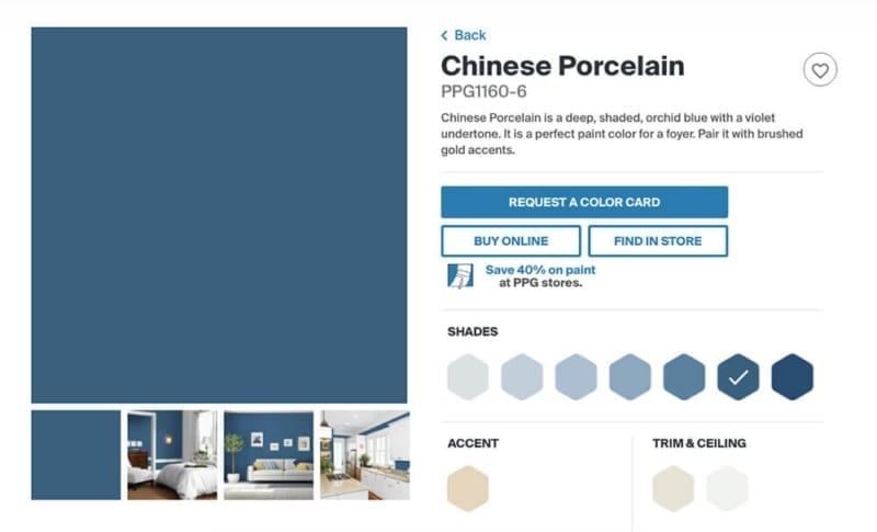 Kleur van het jaar Chinese Porcelain - Trendkleur trend trouwkaart