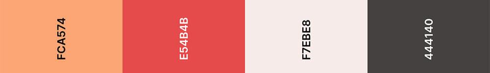 Cantaloupe Kleurenpalet - Trouwkaart Trend 2020
