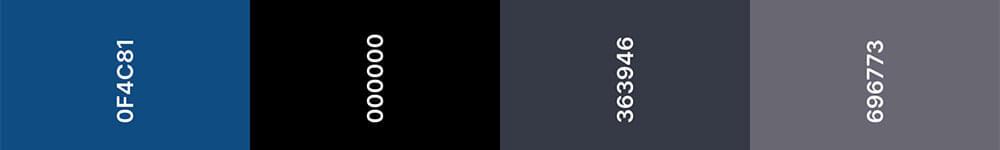 Trouwkaart trendkleur Classic Blue
