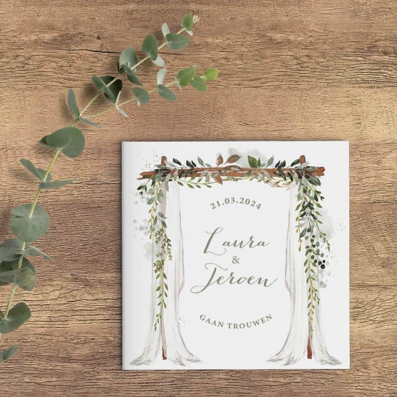 Trouwkaart Eucalyptus Trouwhemel presenteert een